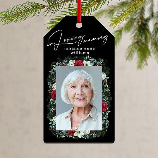 In Loving Memory Custom Ornaments