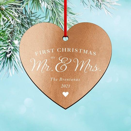Mr & Mrs Custom Ornaments