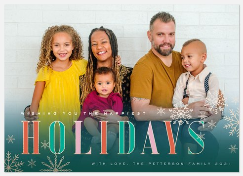 Cheerful Wishes Holiday Photo Cards