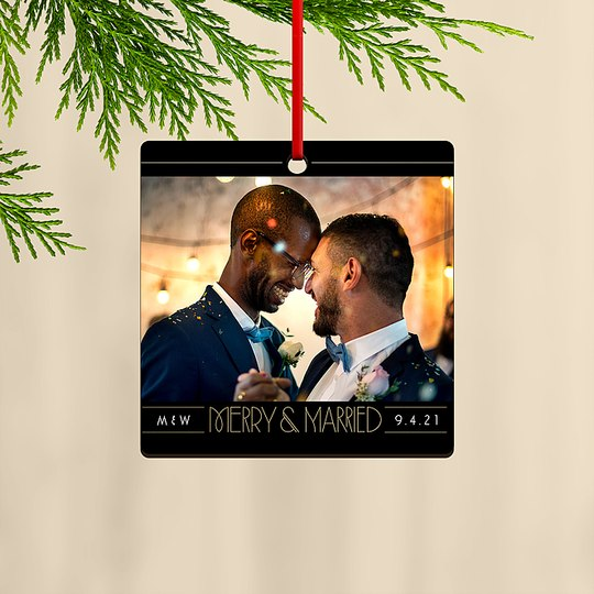 Merry & Married Custom Ornaments