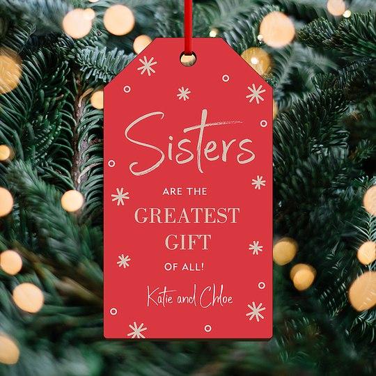 Sister Sparkle Custom Ornaments