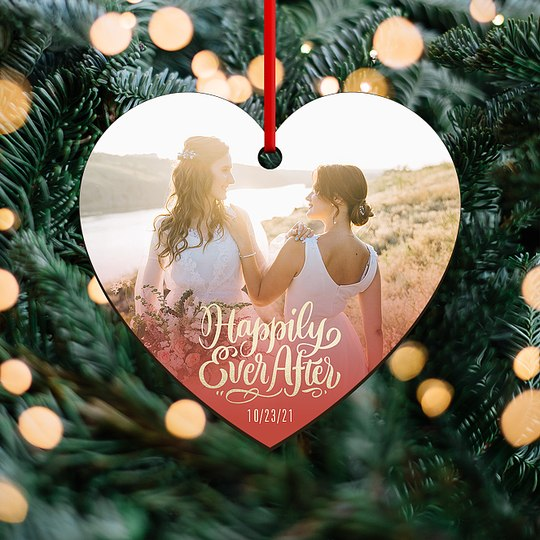 Happily Ever After Custom Ornaments